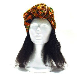 *Already tied * Ankara African Kente Headtie Wrap